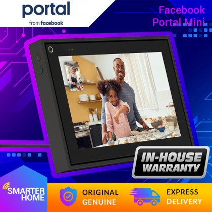 """⚡️ Facebook Portal Mini - DT90GB - Smart Video Calling 8"""" Touch Screen Display with Alexa (Smarter Home)"""