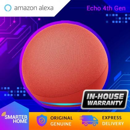 Amazon Echo 4 (4th Gen / 2020) - Smart speaker with premium sound, smart home hub, and Alexa (Smarter Home)