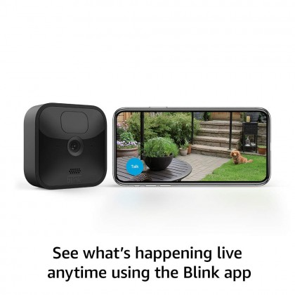 ⚡️ Blink Outdoor Add-On Camera (Sync Module required) (USA Set), wireless, weather-resistant HD security camera, 2-year battery life, motion detection