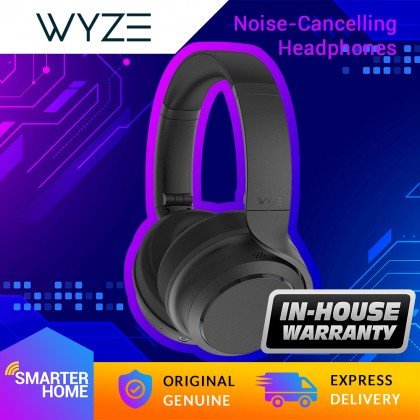 Wyze Active Noise Cancelling Headphones, 20-hour battery life, Alexa built-in, foldable for easy storage, voice-isolating microphones, fatigue free
