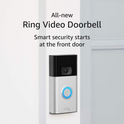 ⚡️ Ring Video Doorbell (2nd Gen, 2020) (USA Set) – 1080p HD video, improved motion detection, easy installation (Smarter Home)