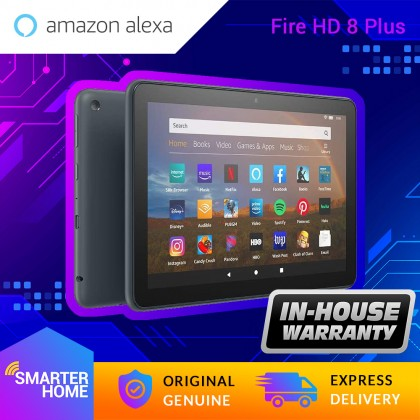 "Amazon Fire HD 8 Plus Tablet (Generation 10th - 2020 Release), 8"" HD Display, Fire OS (Android-based), with Alexa (Smarter Home)"