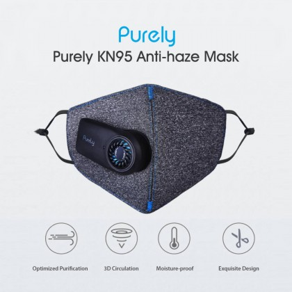 ⚡️ Xiaomi Purely Reusable Electric Fresh Air Face Mask, Genuine KN95 Anti-haze PM2.5 dust filter, 550mAh Rechargeable Battery - HZSN001