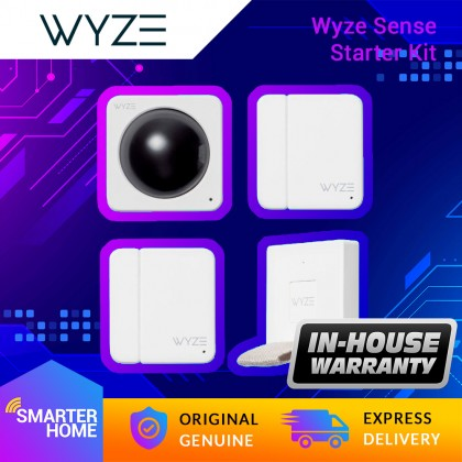 Wyze Sense Starter Kit for Wyze Cam or Wyze Cam Pan. Includes 1 Sensor Bridge, 1 Motion Sensor and 2 Contact Sensors (Smarter Home)