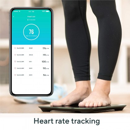 Wyze Scale, Bluetooth Body Fat Scale and Body Weight Composition BMI Smart Scale, Heart Rate Monitor, Body Fat Percentage, Smartphone App