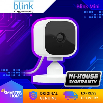 ⚡️ Blink Mini IP Camera – Compact indoor plug-in smart security camera, 1080 HD video, motion detection, Works with Alexa – 1 camera (Smarter Home)