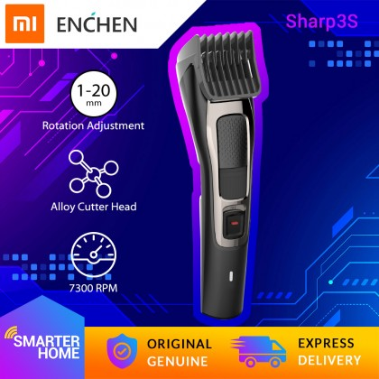 Xiaomi ENCHEN Sharp3S Hair Cutting Machine USB Cordless Electric Rechargeable Hair Clipper Trimmer Cutter Alloy Head High Power Low Noise