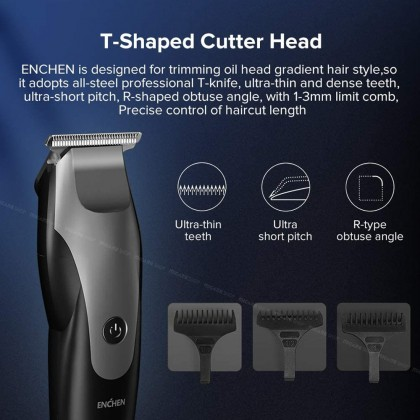 Xiaomi ENCHEN Hummingbird Humming Bird Hair Cutting Machine USB Cordless Wireless Hairclipper Electric Hair Clipper Trimmer Men Rechargeable Hair Cut