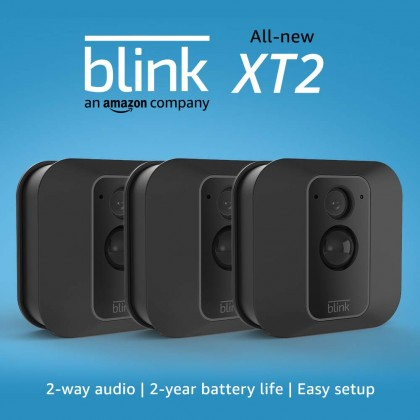 ⚡️ Blink XT2 - 3 camera kit (USA Set) Outdoor/Indoor Alexa Smart Security Camera with cloud storage included, 2-way audio, 2-year battery life