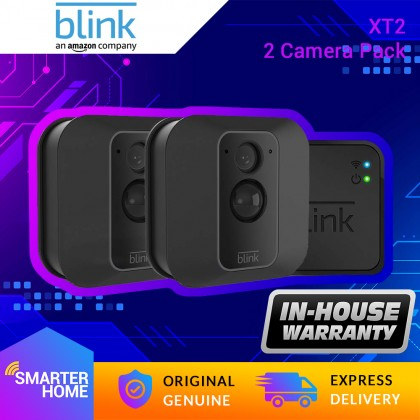⚡️ Blink XT2 - 2 camera kit (USA Set) Outdoor/Indoor Alexa Smart Security Camera with cloud storage included, 2-way audio, 2-year battery life