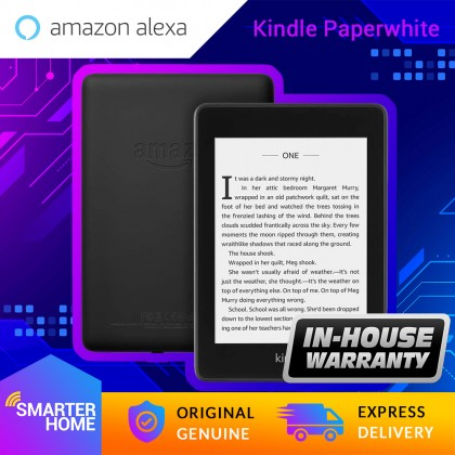 Amazon Kindle Paperwhite e-Reader (10th Gen - 2018) 8GB/32GB With Special Offer - Waterproof (Smarter Home)
