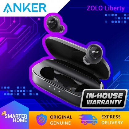 Anker ZOLO Liberty True Wireless Headphones, [Upgraded] 8-Hour Playtime (100 Hours with Charging Case), Bluetooth 5 Earbuds with Graphene Driver