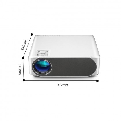 ARMax M19 M-19 (A.K.A. VANKYO Performance V630 / LUMOS AURO) - 1080p Native Full HD Home Cinema Projector with 6000 LUX (Smarter Home)