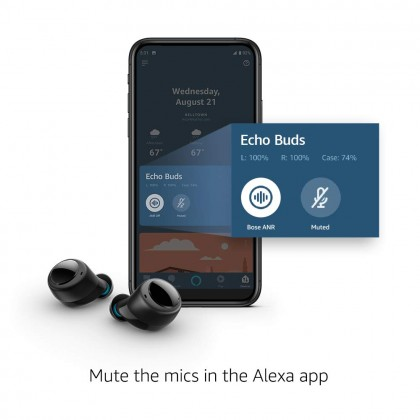 Amazon Echo Buds - Wireless earbuds with immersive sound, active noise reduction, and Alexa (Smarter Home)