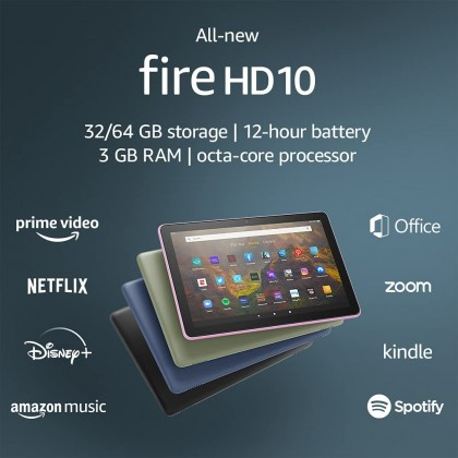 """⚡️ Amazon Fire HD 10 Tablet (11th Generation, 2021 Release) 10.1"""" 1080p Full HD display (Smarter Home)"""