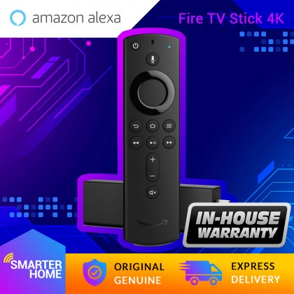 Amazon Fire TV Stick 4K media streaming player device with Alexa built in, Ultra HD, Dolby Vision, includes the Alexa Voice Remote (Smarter Home)