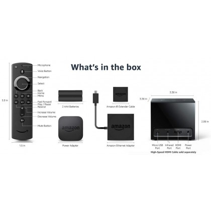 ⚡️ Amazon Fire TV Cube (2nd Gen - Released 2019), hands-free with Alexa built in, 4K Ultra HD, streaming media player (Smarter Home)
