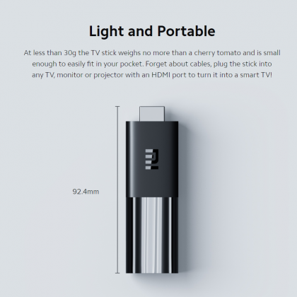 ⚡️ Xiaomi Mi TV Stick (Global Version, English UI) FHD Android TV 9.0 + Chromecast 1GB RAM + 8GB ROM 5G WiFi (Smarter Home)