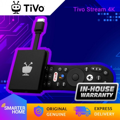 ⚡️ TiVo Stream 4K – Certified Android TV Box with Dolby Vision HDR and Dolby Atmos Sound – Plug-In Smart TV (Smarter Home)