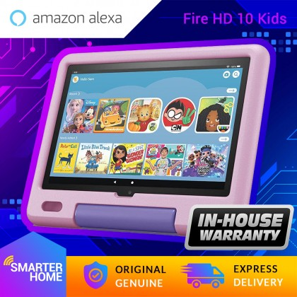 """⚡️ Amazon Fire HD 10 Kids tablet (11th Generation, 2021), 10.1"""" 1080p Full HD, ages 3–7, 32 GB With Kid-Proof Case (Smarter Home)"""