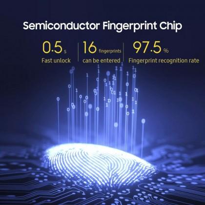 ⚡️ YEELOCK Smart Fingerprint Lock Keyless Drawer Lock 0.5s Fast Unlock Support 16 Fingerprints Perforated-free Installation Baby Safety Fingerprint Hidden Lock ZNGS06YSB